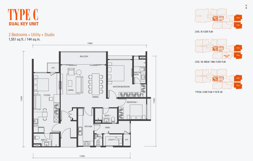 GenKL Type C Floor Plan