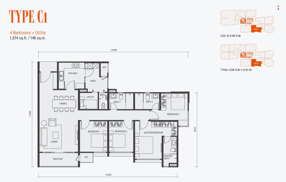 GenKL Type C1 Floor Plan