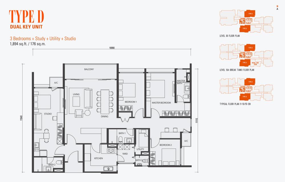 GenKL Type D Floor Plan