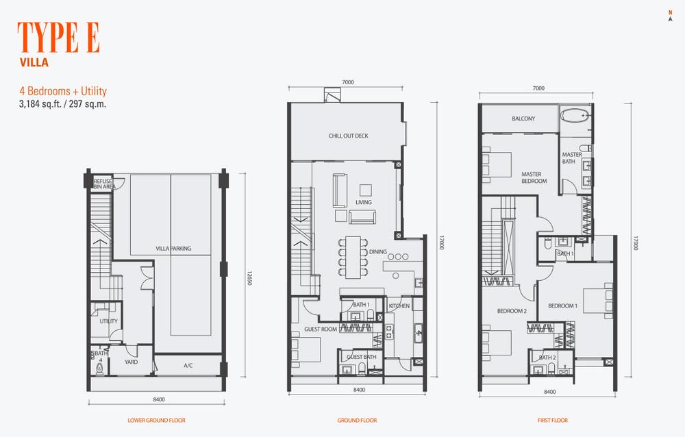 GenKL Type E Floor Plan