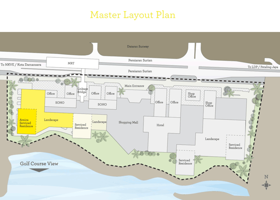 Master Plan of BayBerry Serviced Residence @ Tropicana Gardens
