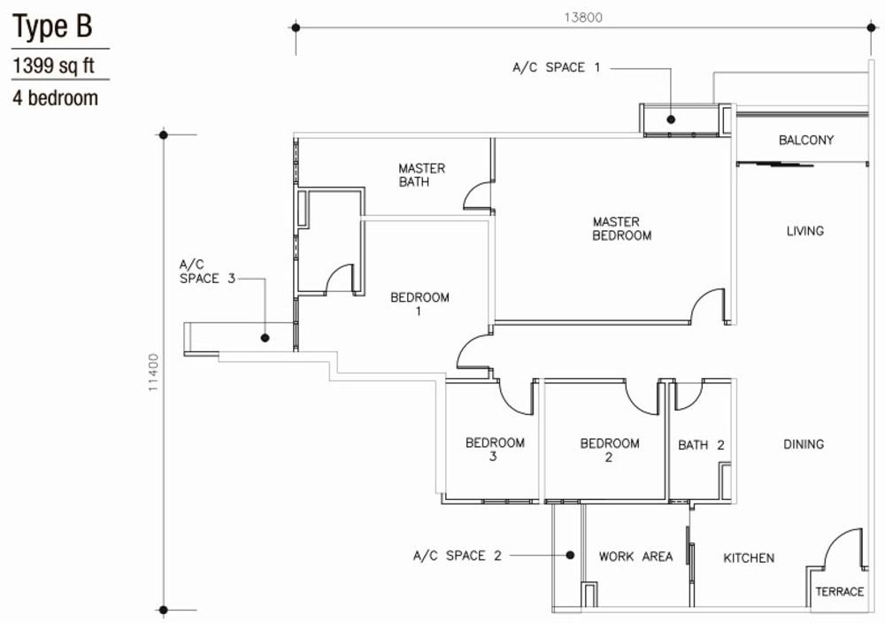 Mulberi Condominium Type B Floor Plan