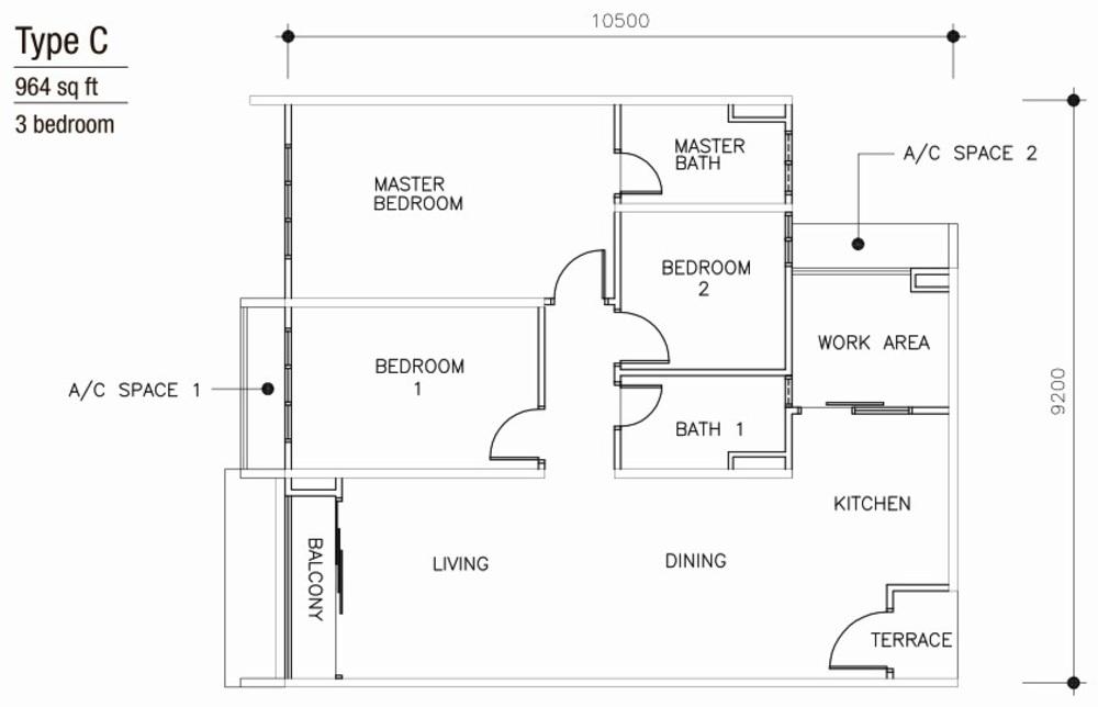 Mulberi Condominium Type C Floor Plan