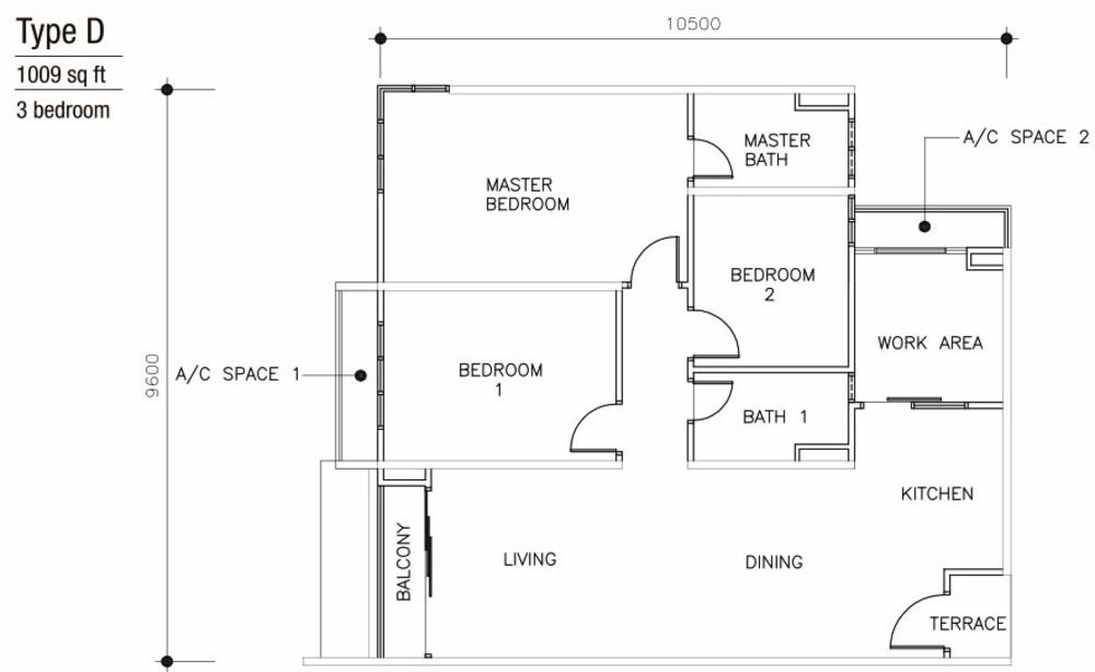 Mulberi Condominium Type D Floor Plan