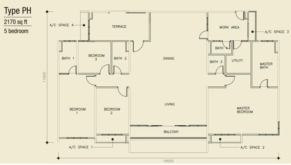 Mulberi Condominium Pent House Floor Plan