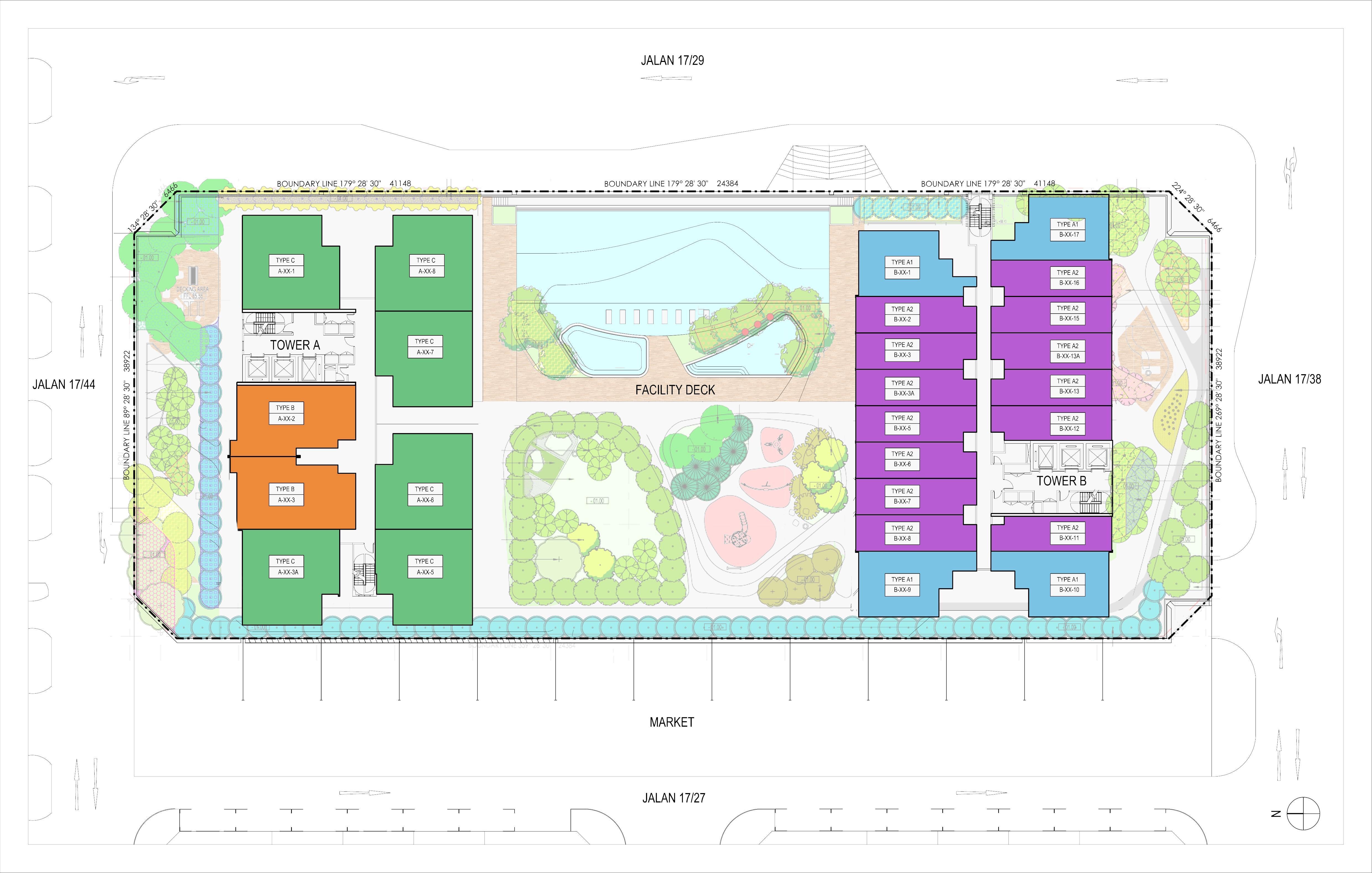Site Plan of Biji Living