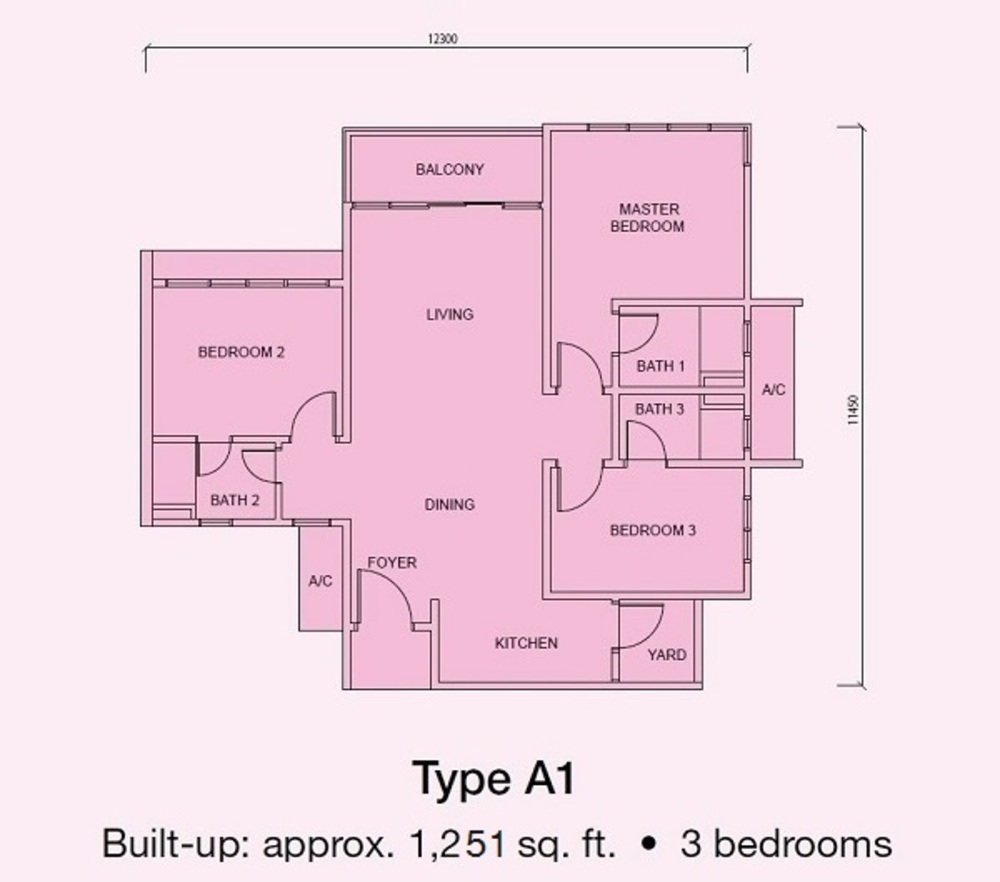 Conezión Type A1 Floor Plan