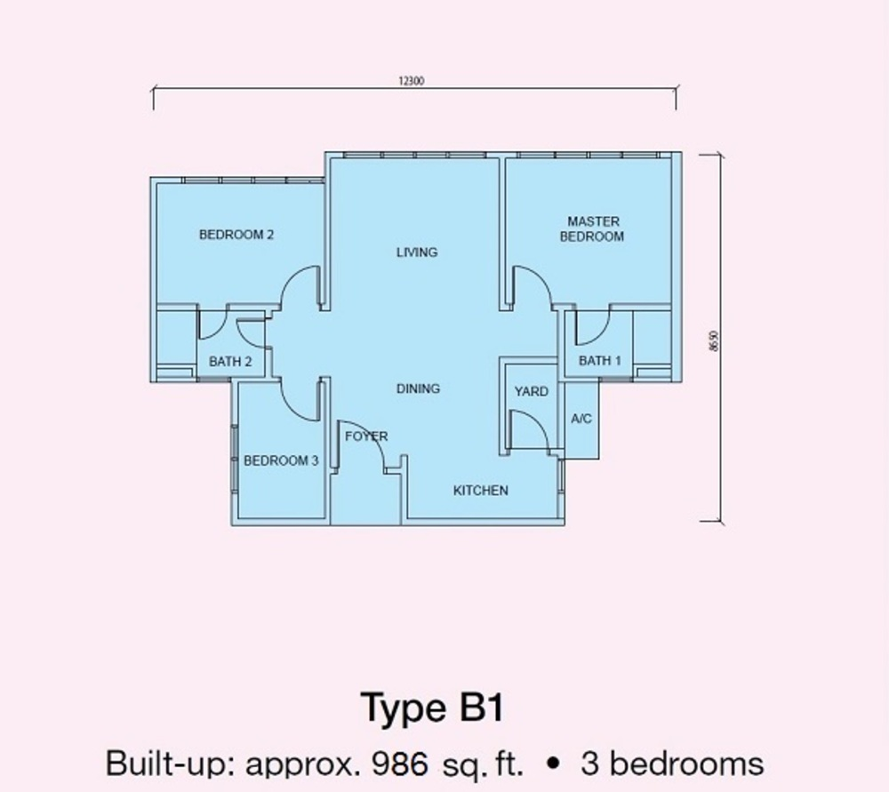 Conezión Type B1 Floor Plan