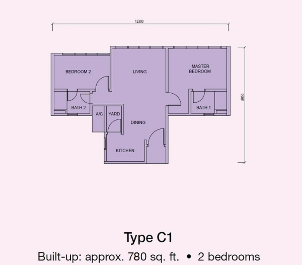 Conezión @ IOI Resort City Type C1 Floor Plan