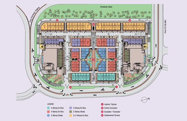 Site Plan of Conezión @ IOI Resort City