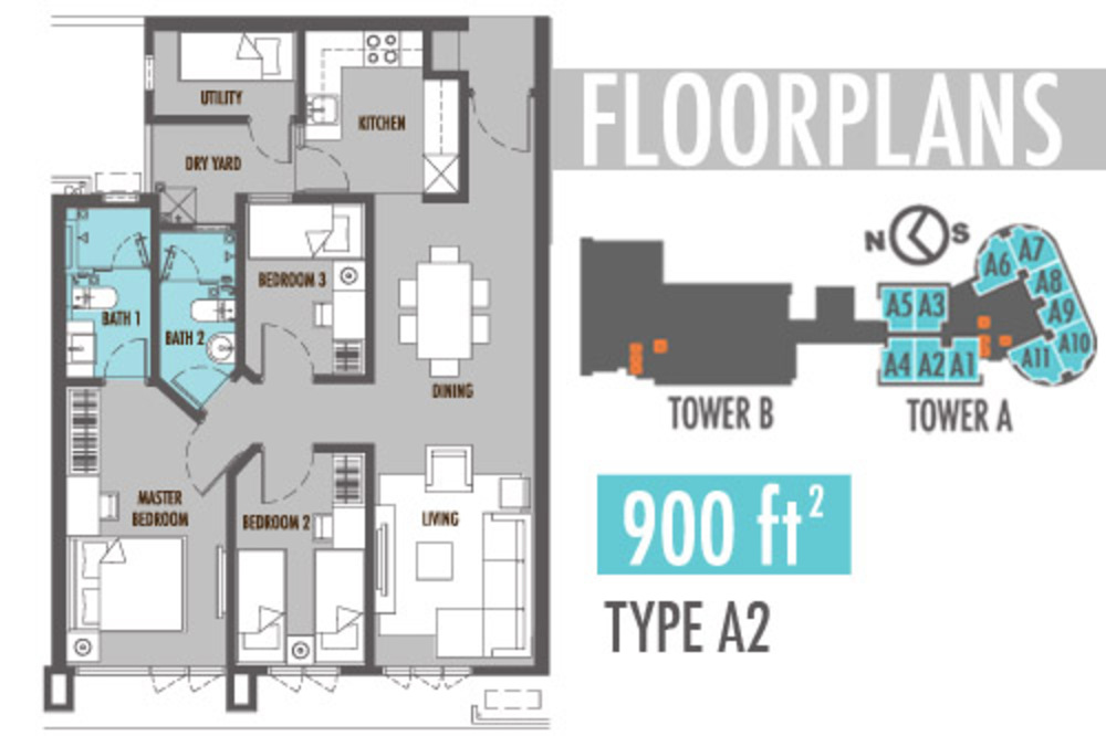 Tiara Mutiara 2 Type A2 Floor Plan