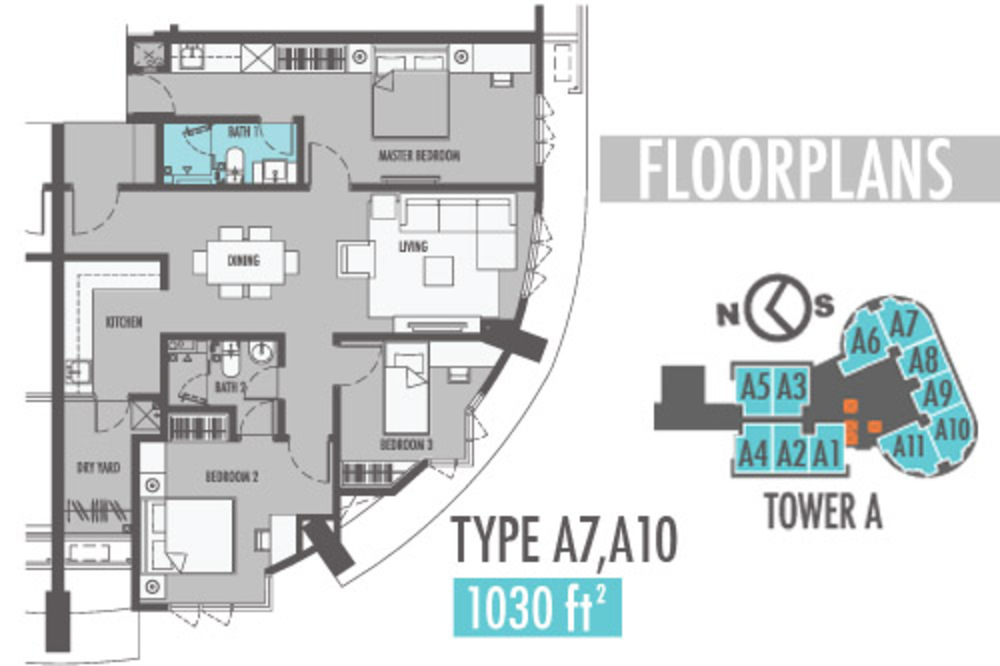 Tiara Mutiara 2 Type A7 & A10 Floor Plan