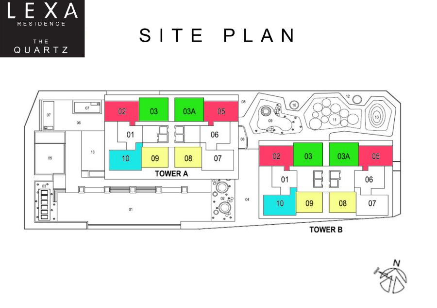 Site Plan of Lexa Residence @ The Quartz