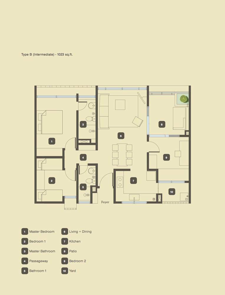The Armanna @ Kemuning Prima Type B Floor Plan