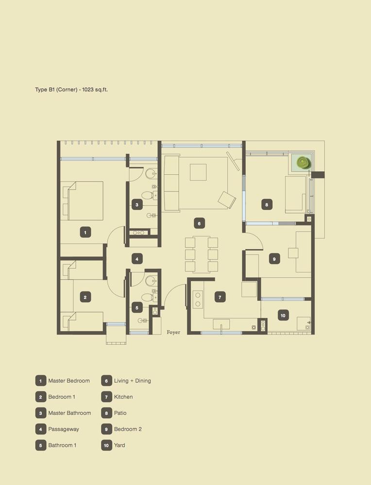The Armanna @ Kemuning Prima Type B1 Floor Plan