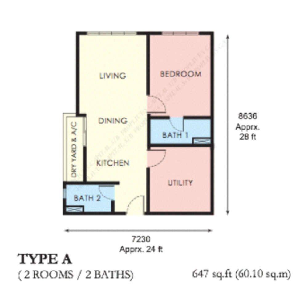 The Edge Residen Type A Floor Plan