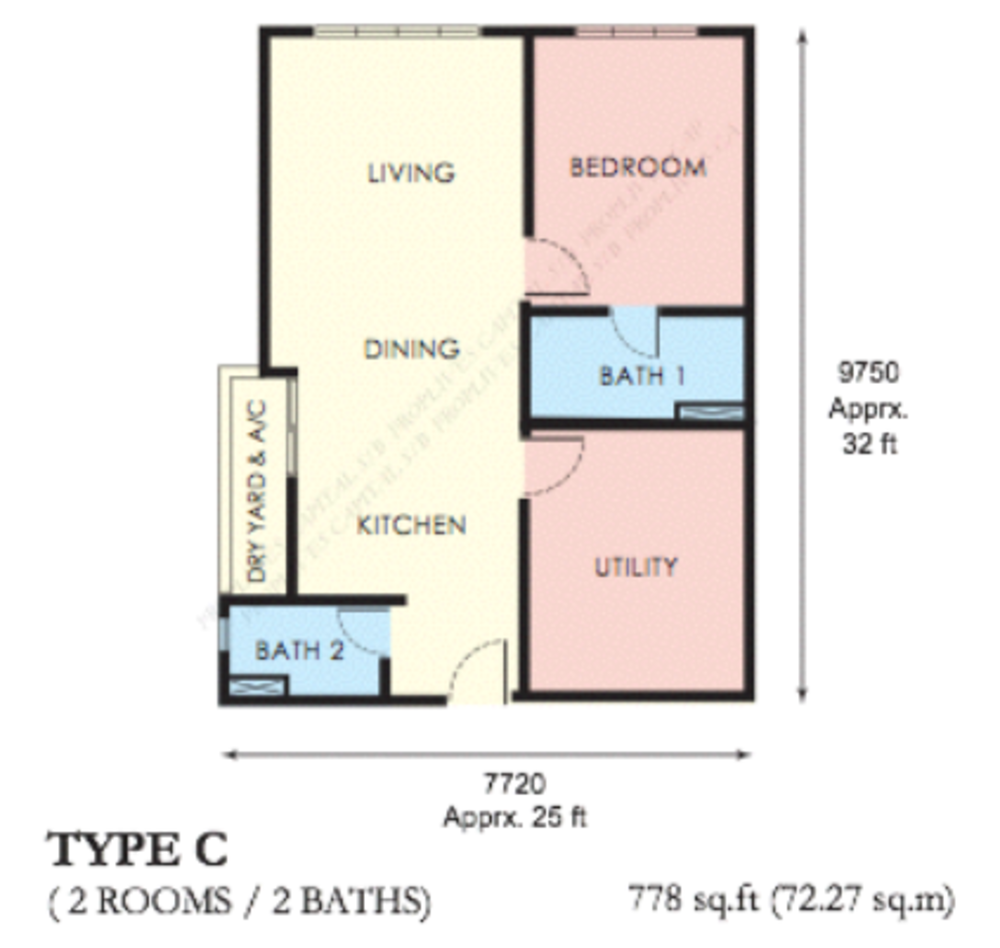 The Edge Residen Type C Floor Plan