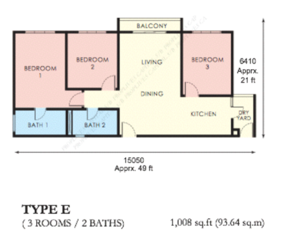 The Edge Residen Type E Floor Plan