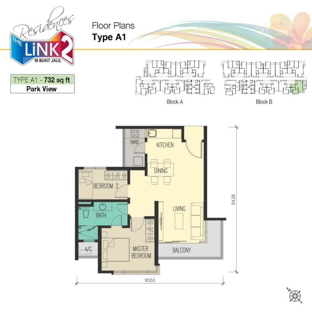 The Link 2 Residences Type A1 Floor Plan