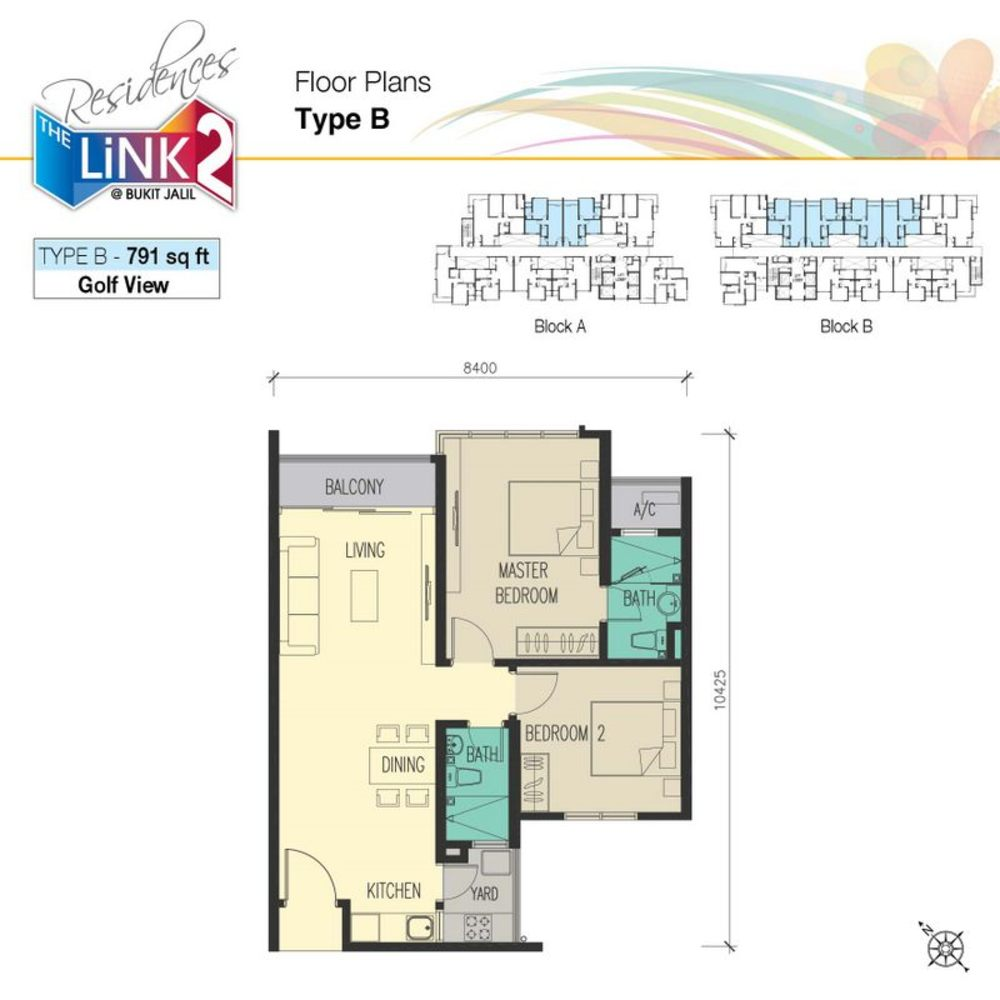 The Link 2 Residences Type B Floor Plan