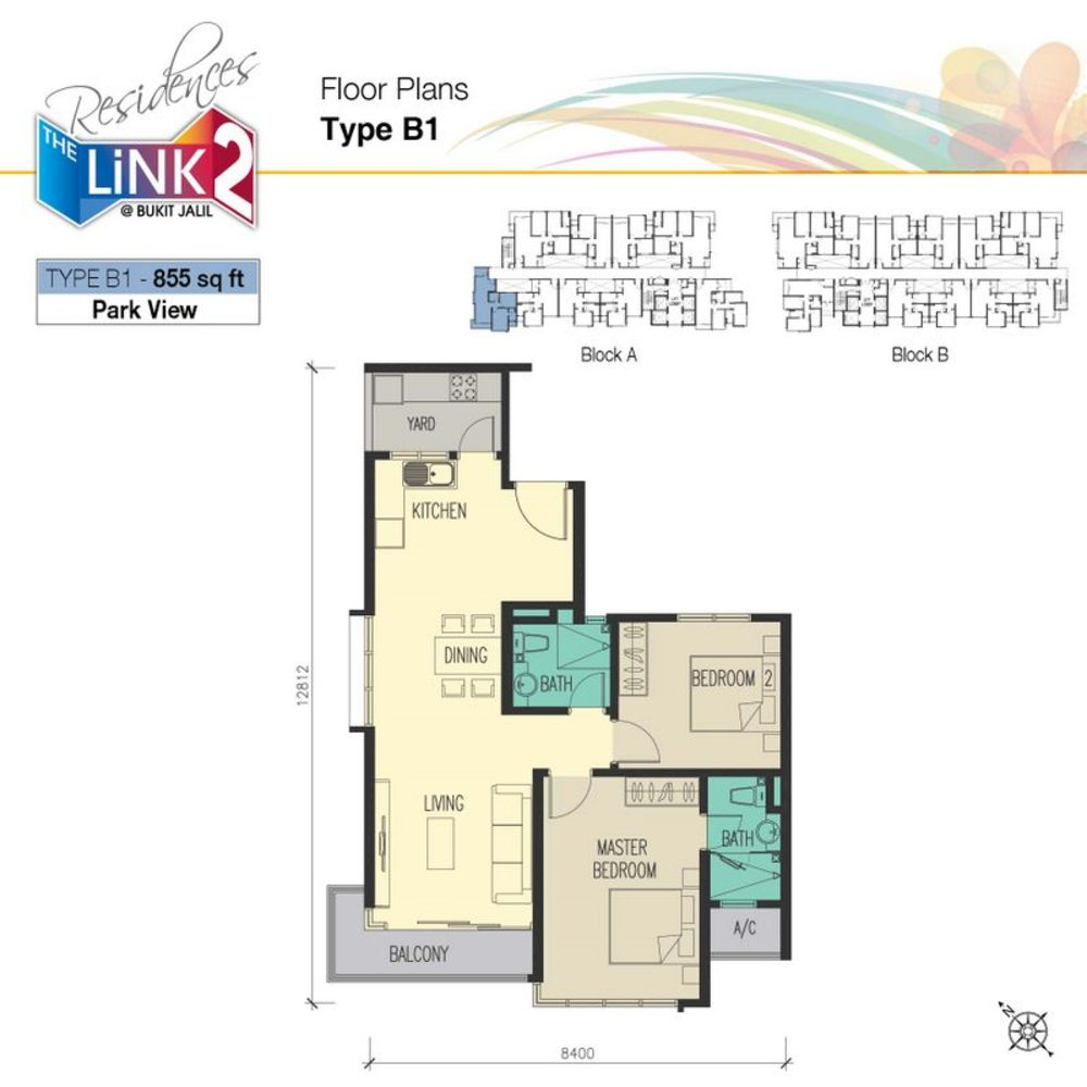 The Link 2 Residences Type B1 Floor Plan