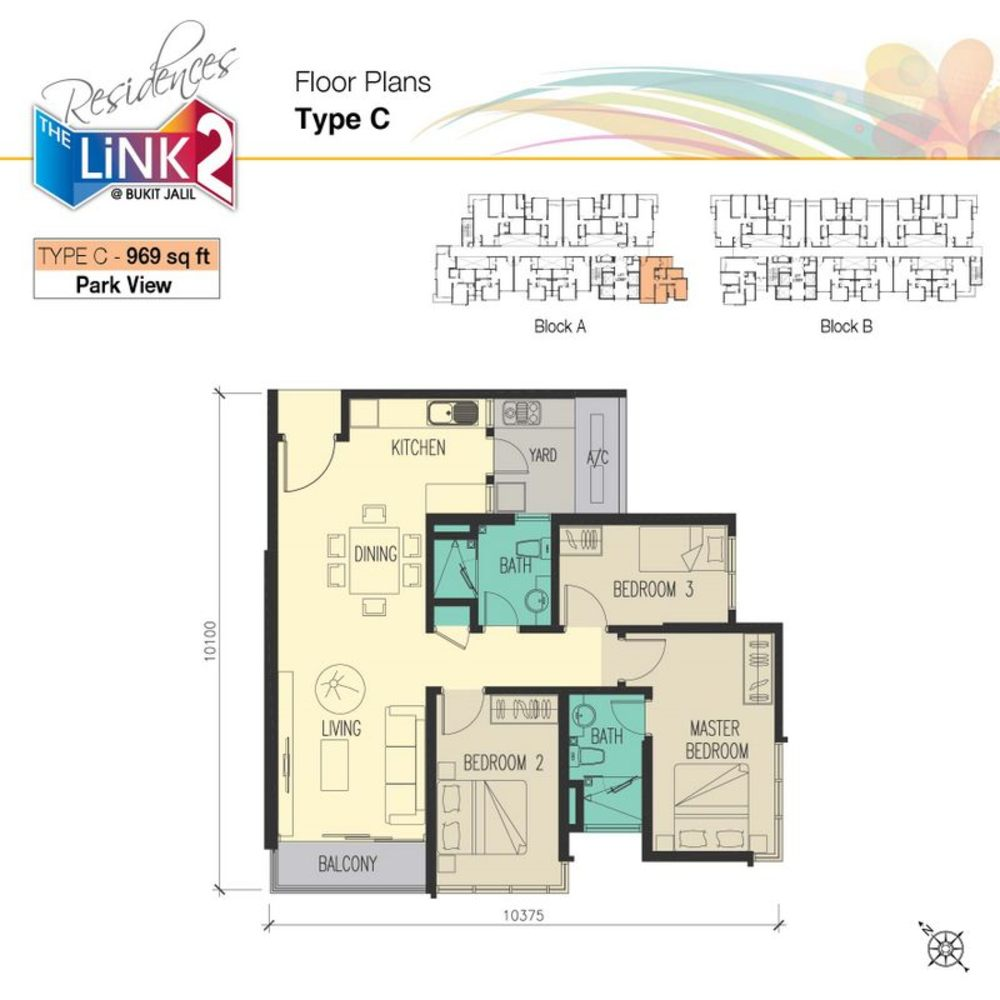 The Link 2 Residences Type C Floor Plan