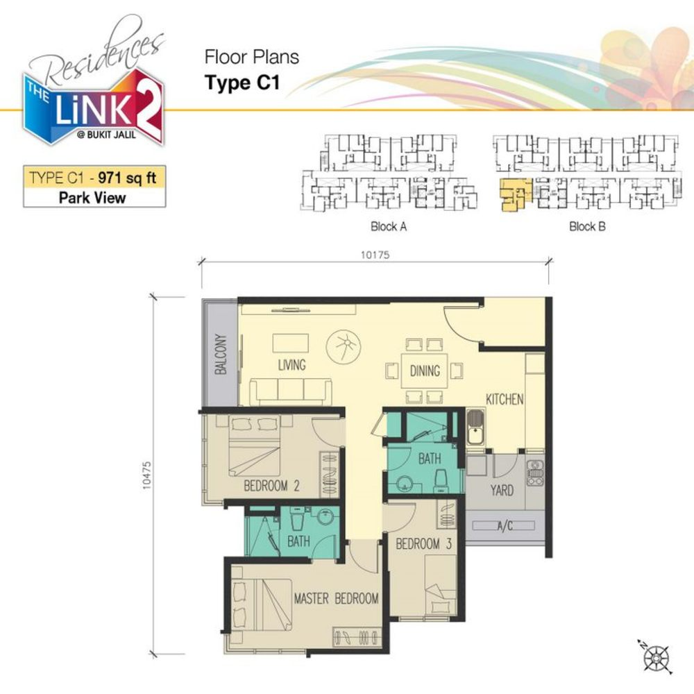 The Link 2 Residences Type C1 Floor Plan