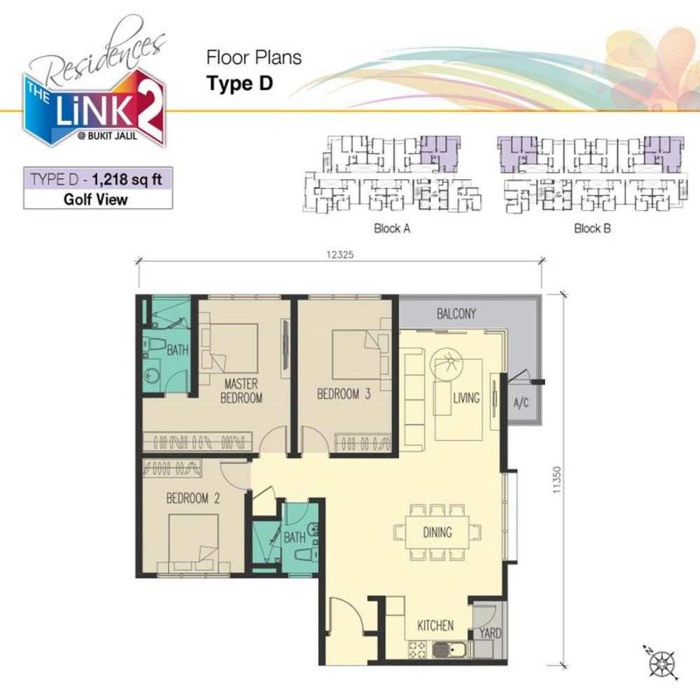 The Link 2 Residences Type D Floor Plan