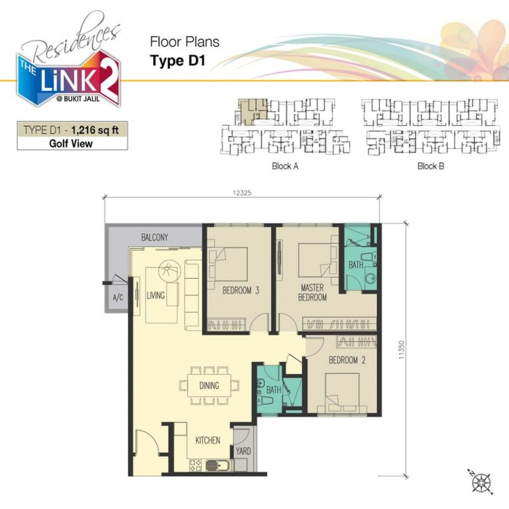 The Link 2 Residences Type D1 Floor Plan