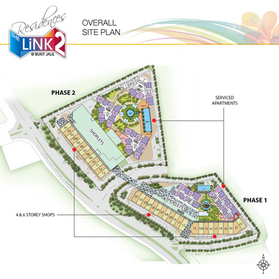 Site Plan of The Link 2 Residences