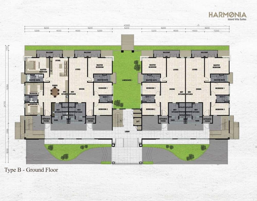 Isle of Kamares @ Setia Eco Glades Type B - Harmonia Floor Plan