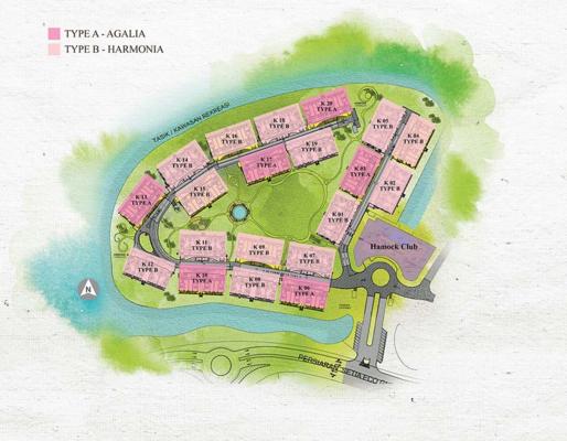 Site Plan of Isle of Kamares @ Setia Eco Glades