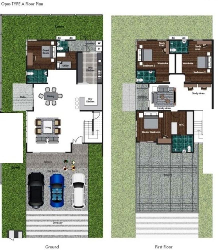 Opus @ Lake Vicinity Type A  Floor Plan