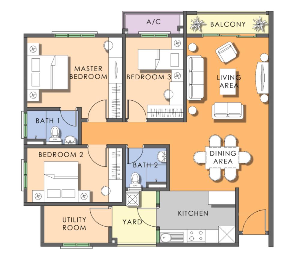 Saujana Aster Phase 2 - Type D Floor Plan