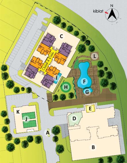 Site Plan of Saujana Aster