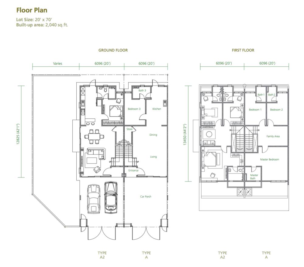 Greenwoods @ Salak Perdana 96 Residences Type A & A2 Floor Plan