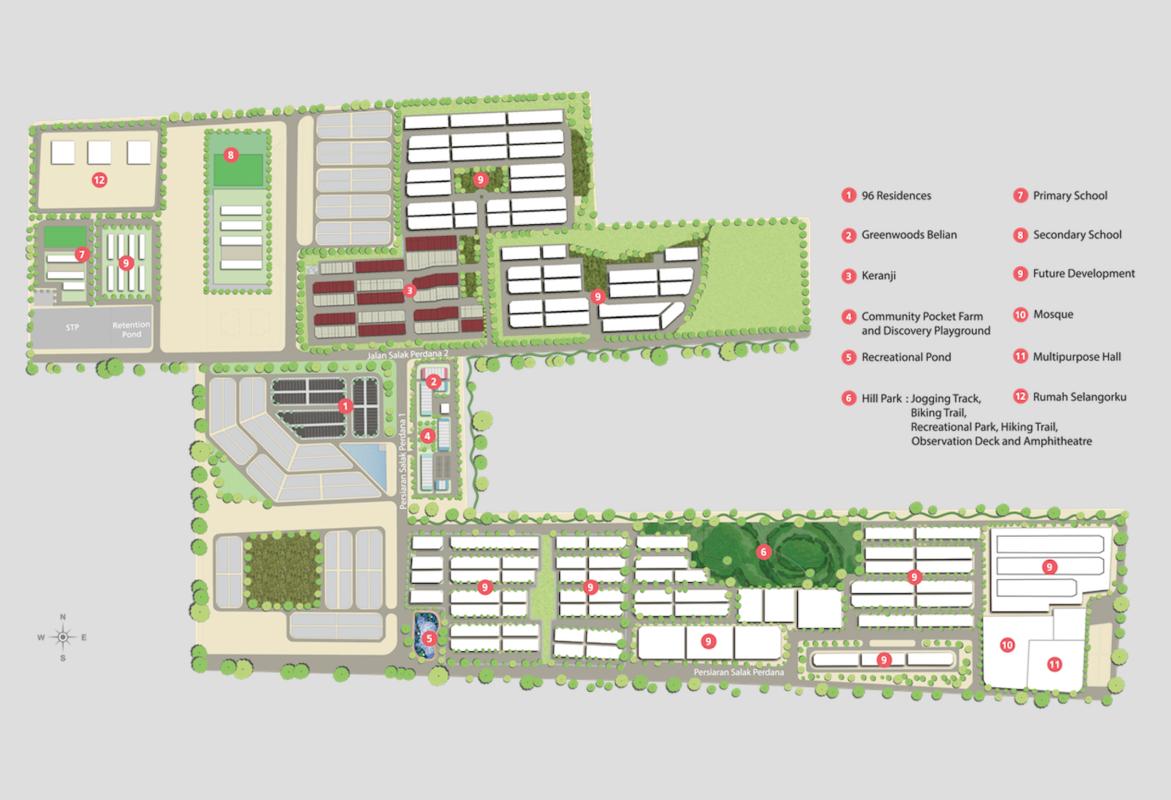 Master Plan of Greenwoods @ Salak Perdana