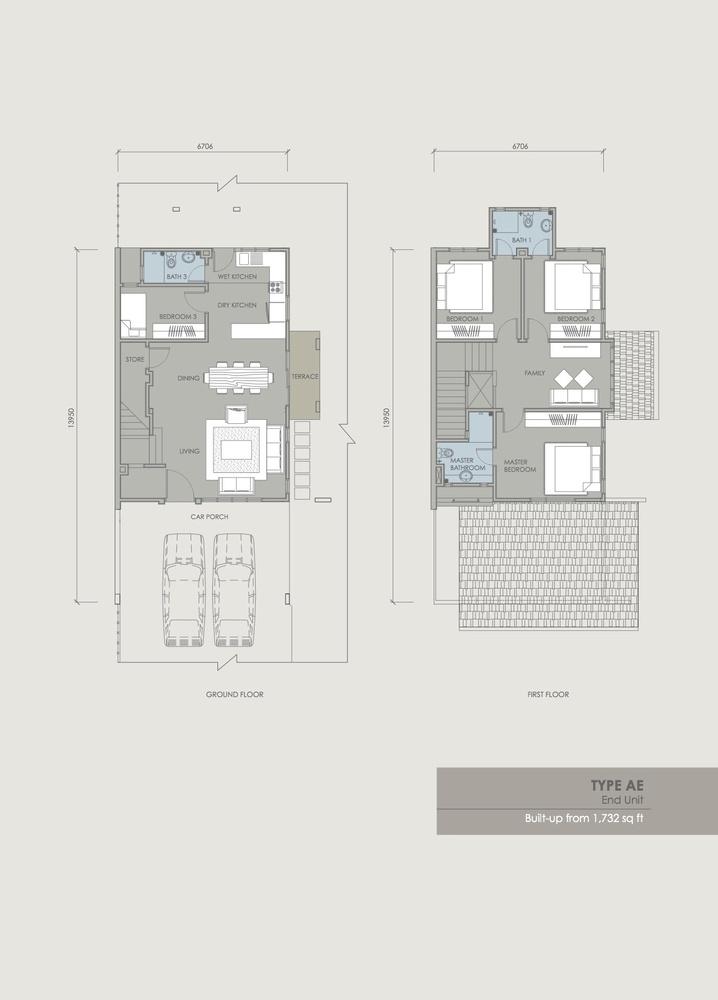 Davina Type AE Floor Plan