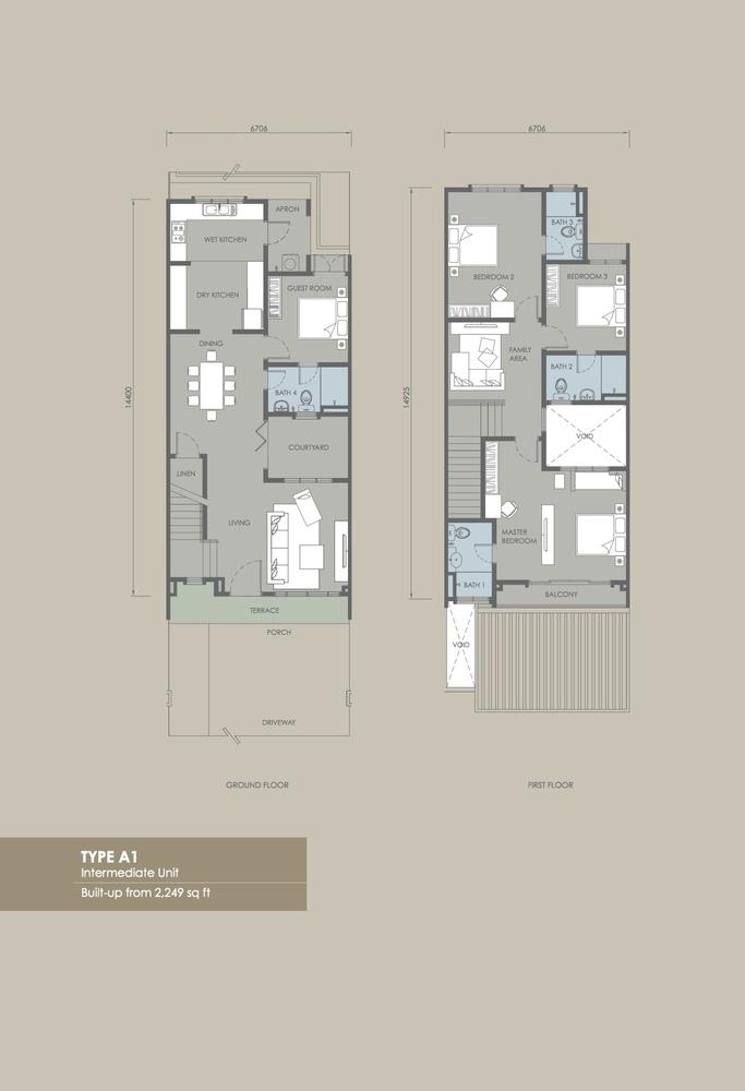 Davina Type A1 (Phase 2) Floor Plan