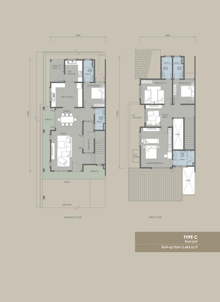 Davina Type C Floor Plan