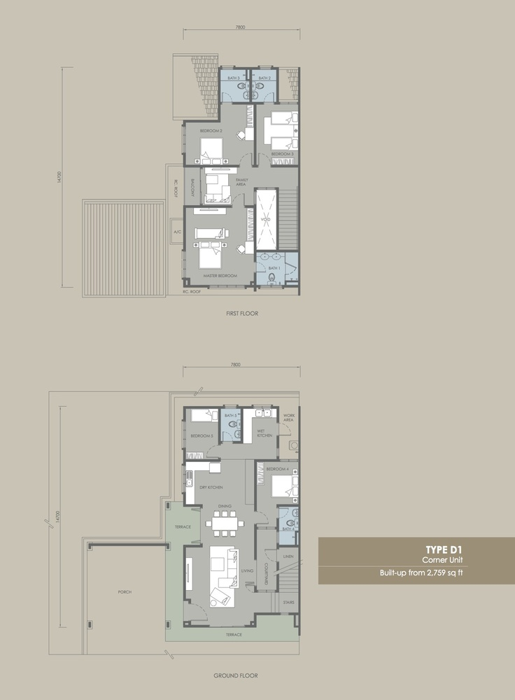 Davina Type D1 Floor Plan