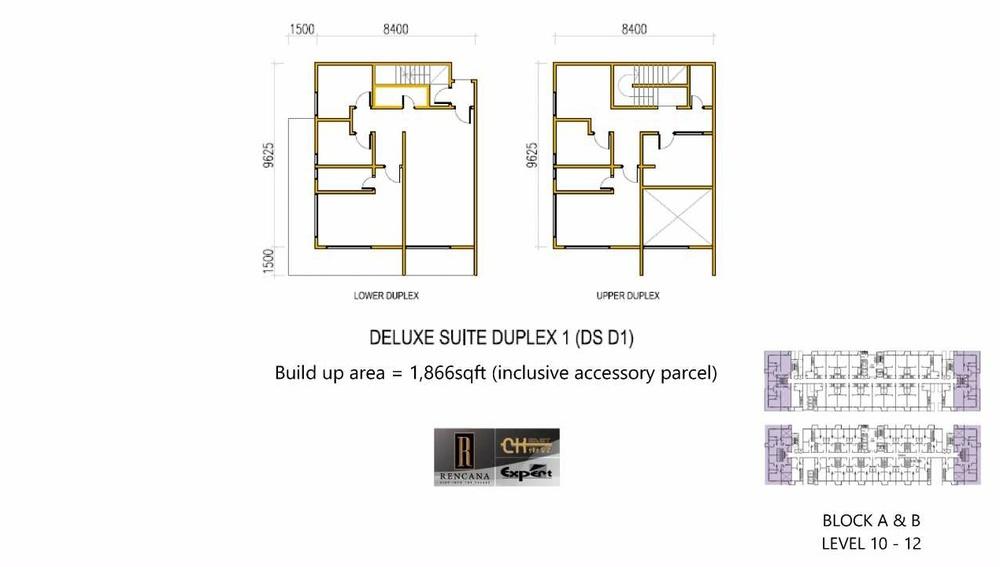 Rencana Royale Deluxe Suite Duplex 1 Floor Plan