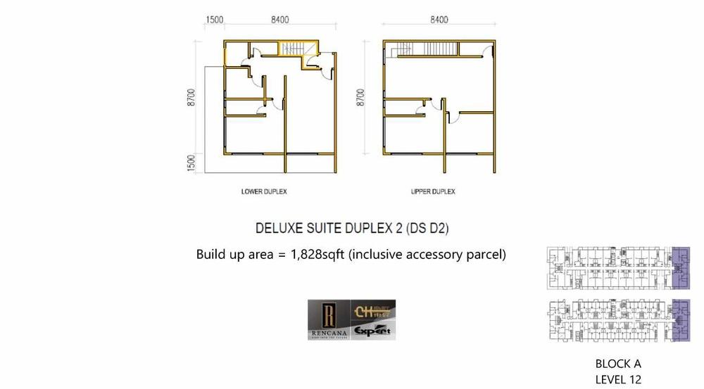 Rencana Royale Deluxe Suite Duplex 2 Floor Plan