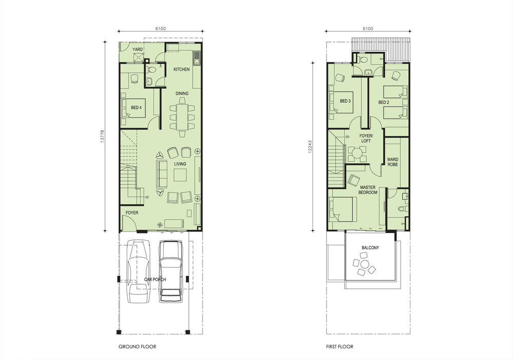 Taman Titi Heights Aster Floor Plan