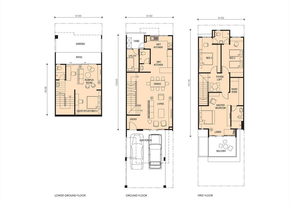 Taman Titi Heights Iris Floor Plan