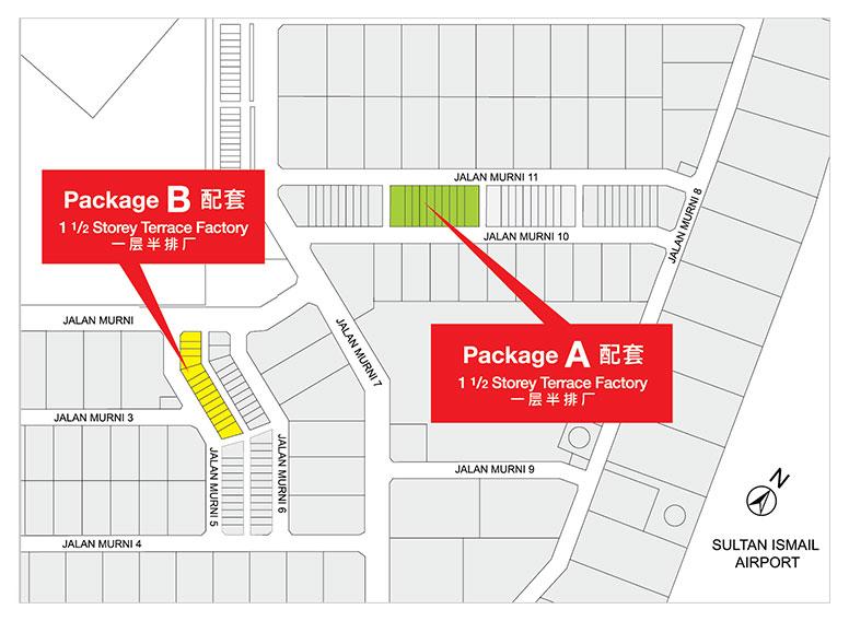 Site Plan of Taman Perindustrian Murni Senai