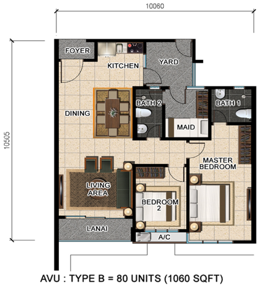 D'Suria Condominium Type B Floor Plan