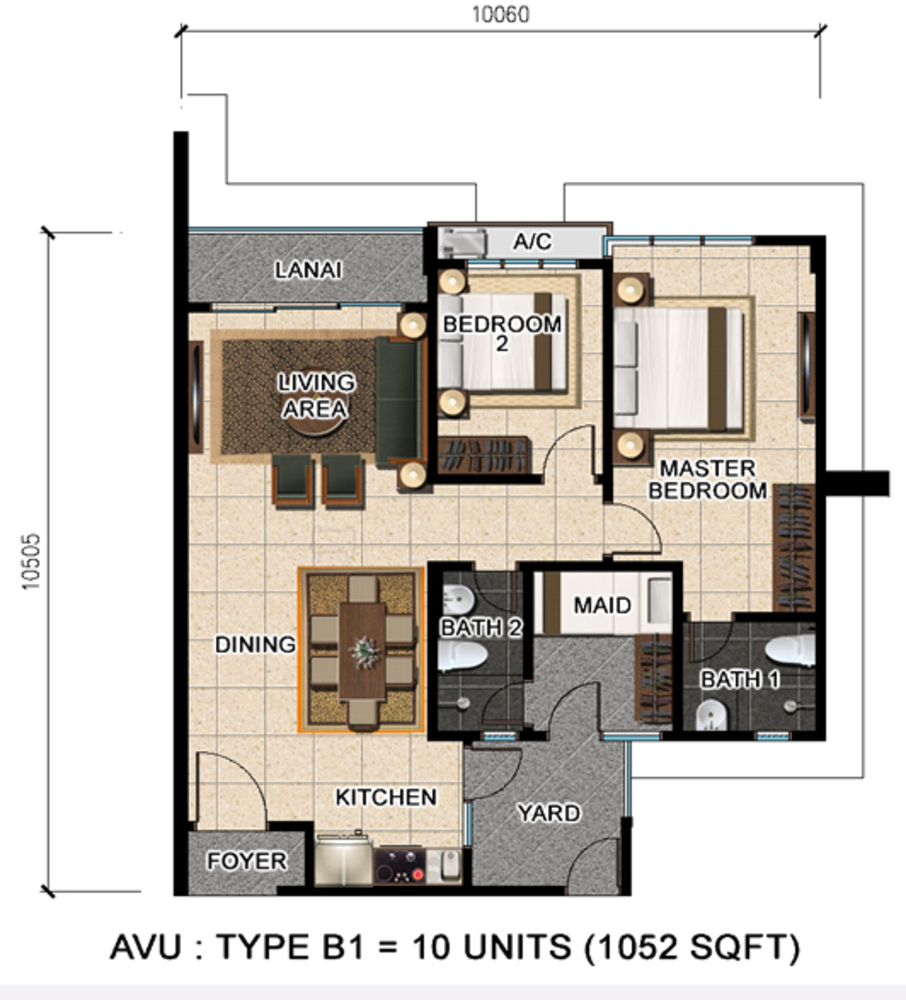 D'Suria Condominium Type B1 Floor Plan