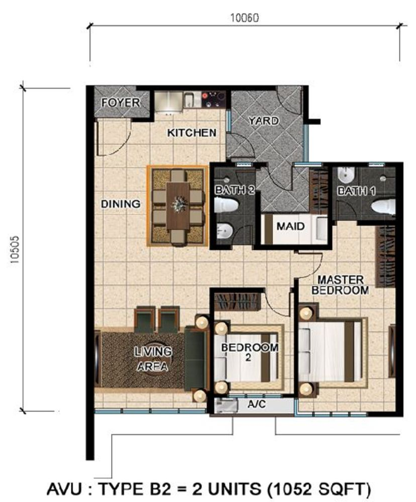 D'Suria Condominium Type B2 Floor Plan