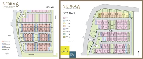 Site Plan of Sierra 6